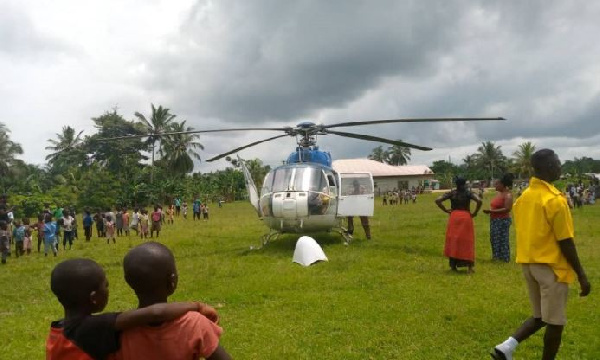 Aircraft Carrying Gold Lands In A School At Ajumako Okyeso