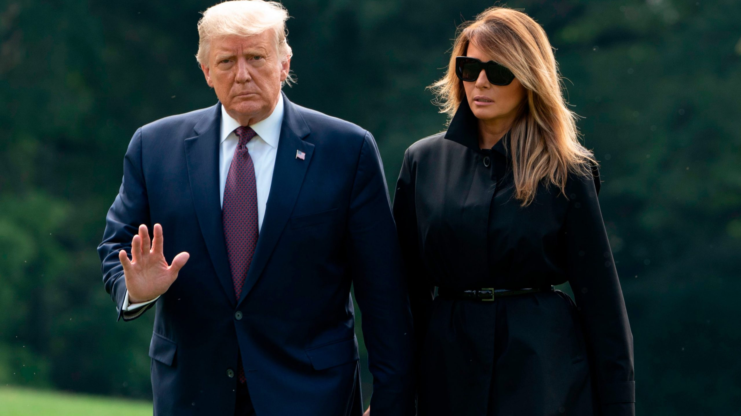 American President And First Lady, Donald And Melania Trump Have COVID-19.