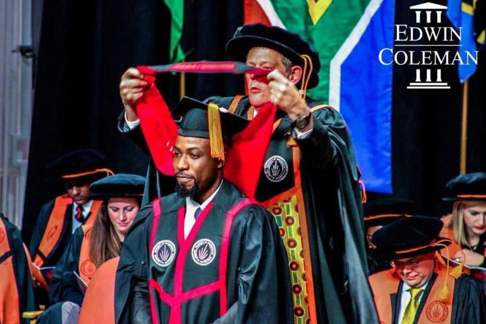 First-class graduate disallowed by Ghana School of Law becomes Doctor of Law