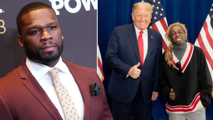 50 Cent tells Lil Wayne to Call for Trumps defense or get jailed.