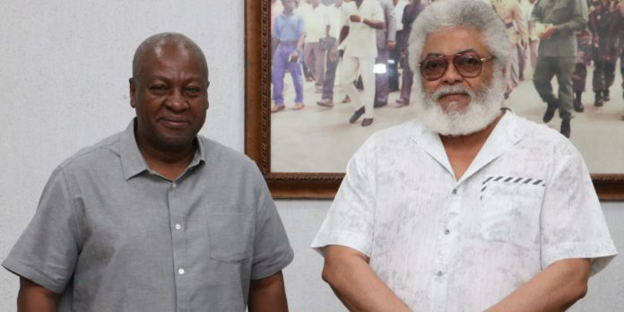 Mahama appends campaign over Rawlings' death